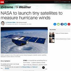 NASA launches tiny satellites to measure hurricane winds