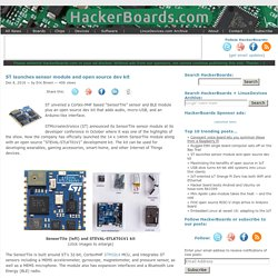 ST launches sensor module and open source dev kit