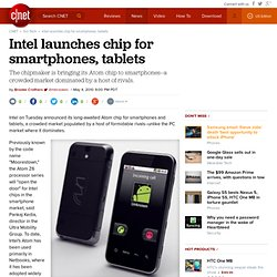 Intel launches chip for smartphones, tablets