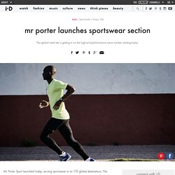 ​mr porter launches sportswear section