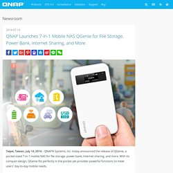 QNAP Launches 7-in-1 Mobile NAS QGenie for File Storage, Power Bank, Internet Sharing, and More - QNAP