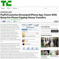 PayPal Launches Revamped iPhone App, Teams With Bump For Phone-T