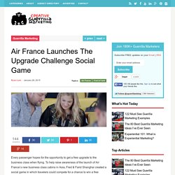 Air France Launches The Upgrade Challenge Social Game