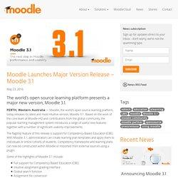 Launches Major Version Release - Moodle 3.1 - Moodle.com