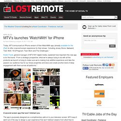 MTV's launches 'WatchWith' for iPhone