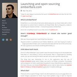 Launching and open sourcing emberflare.com - ugisozols.com