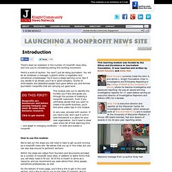 Launching a Nonprofit News Site
