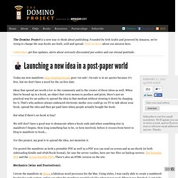 Launching a new idea in a post-paper world