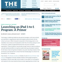 Launching an iPad 1-to-1 Program: A Primer