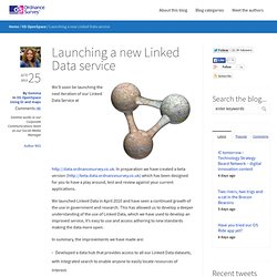 Launching a new Linked Data service