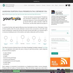 Launching YourTopia Italia: Progress in Italy, defined by You