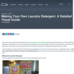 Making Your Own Laundry Detergent: A Detailed Visual Guide