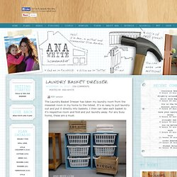 Build a Laundry Basket Dresser