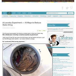Laundry: 10 Ways To Reduce Static Cling