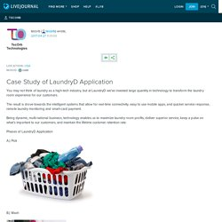 Case Study of LaundryD Application: tecorb