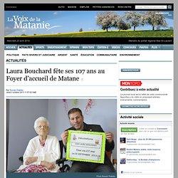 Laura Bouchard fête ses 107 ans