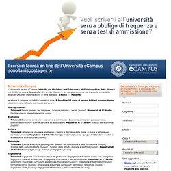 Corsi di laurea dell'università online eCampus