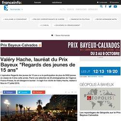 """[France 3] - Valéry Hache, lauréat du Prix Bayeux """"Regards des jeunes de 15 ans"""""""