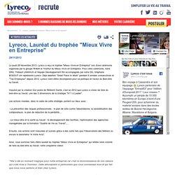 """Lyreco, Lauréat du trophée """"Mieux Vivre en Entreprise"""""""