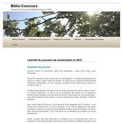 Lauréate du concours de conservateur en 2012