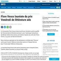 Flore Vesco lauréate du prix Vendredi de littérature ado