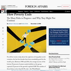 Nobel Laureates Esther Duflo and Abhijit Banerjee on How to Lift People Out of Poverty