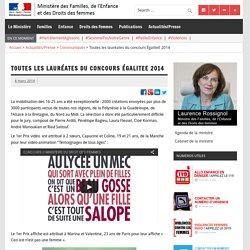 Toutes les lauréates du concours ÉgaliteE 2014 – Ministère des Familles, de l'Enfance et des Droits des femmes