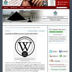 Lauréats du Wikiconcours lycéen 2015-2016