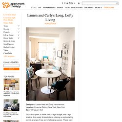 Lauren and Carly's Long, Lofty Living House Tour