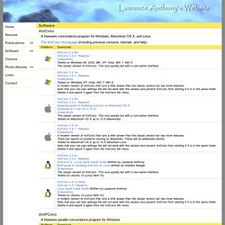Laurence Anthony's Software
