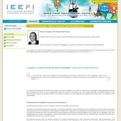 ieepi - Paroles d'experts - Maître Laurence Dreyfuss-Bechmann