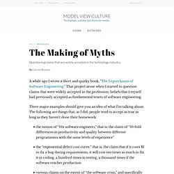 The Making of Myths, by Laurent Bossavit