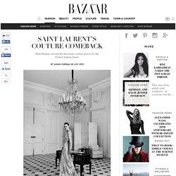 Saint Laurent couture collection show