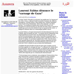 """Laurent Fabius dénonce le """"carnage de Gaza"""""""
