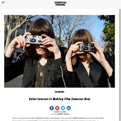 Saint Laurent is Making Film Cameras NowEssential Homme Magazine