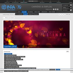 INRA 13/12/16 Les lauriers de l'INRA 11e edition.