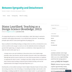 Diana Laurillard, Teaching as a Design Science (Routledge, 2012)