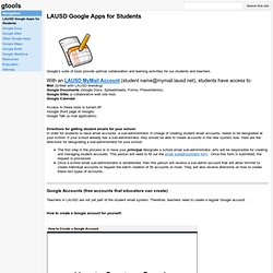 LAUSD Google Apps for Students - gtools