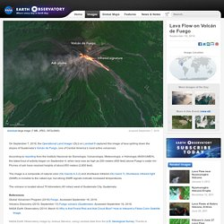Lava Flow on Volcán de Fuego