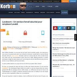 Lavaboom - Un service d'email sécurisé pour remplacer Lavabit