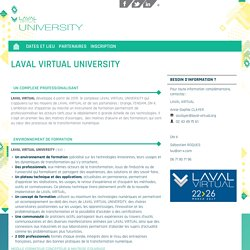 LAVAL VIRTUAL UNIVERSITY