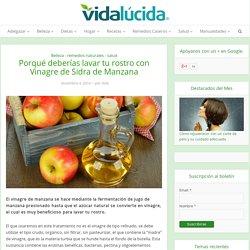 Lavar tu rostro con Vinagre de Sidra de Manzana