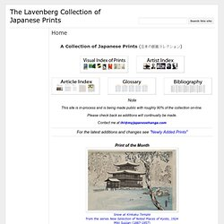 The Lavenberg Collection of Japanese Prints