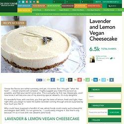 Lavender and Lemon Vegan Cheesecake
