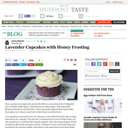 Lavender Cupcakes with Honey Frosting