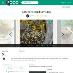 Lavender Salad Dressing Recipe