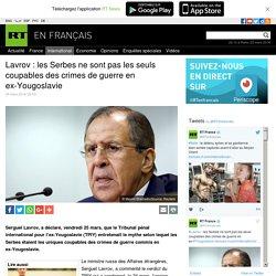 Yougoslavie crime contre l'humanité de l'OTAN