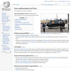 Law enforcement in Peru