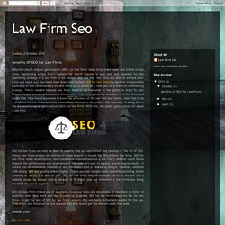 Law Firm Seo: Benefits Of SEO For Law Firms