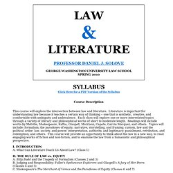 Law and Literature Syllabus